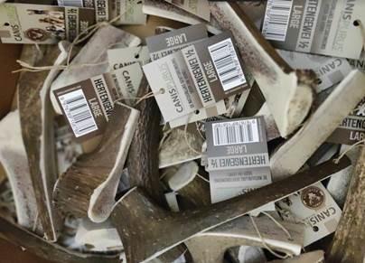NIEUW:  Hertengeweien en Deer Bones